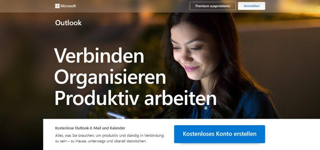 Outlook Landingpage