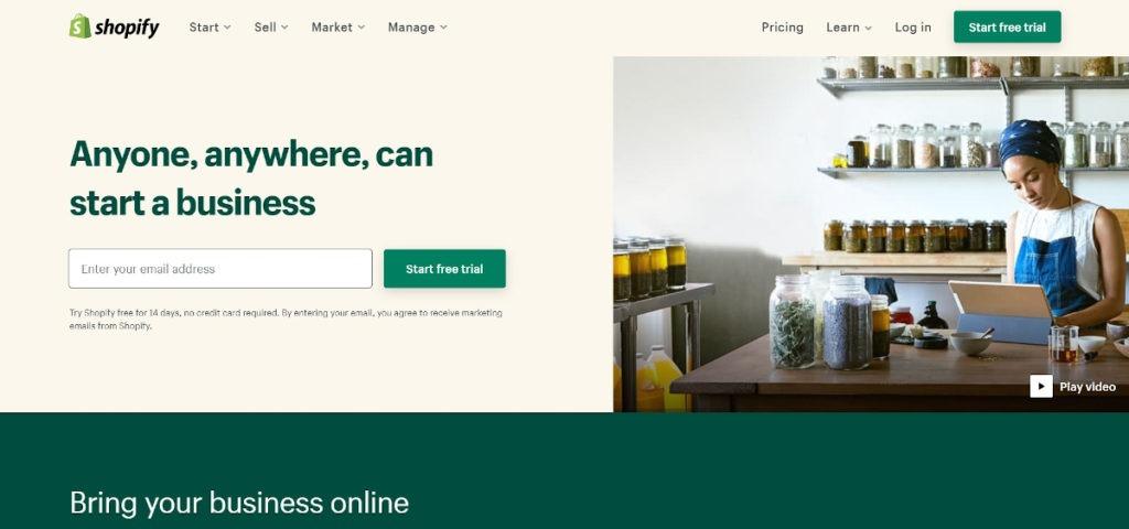 Shopify Landingpage